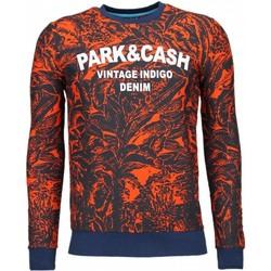 textil Herr Sweatshirts Bn8 Black Number Park & Cash Apelsin Orange