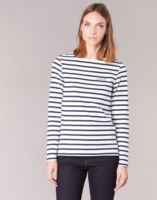 textil Dam Långärmade T-shirts Betty London IFLIGEME Vit / Blå