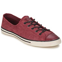 Skor Dam Sneakers Converse Chuck Taylor All Star FANCY LEATHER OX Bordeaux
