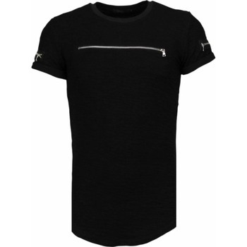textil Herr T-shirts Justing Exclusive Military Patches TZ Svart