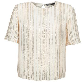 textil Dam Blusar Antik Batik ROMINA Krämfärgad