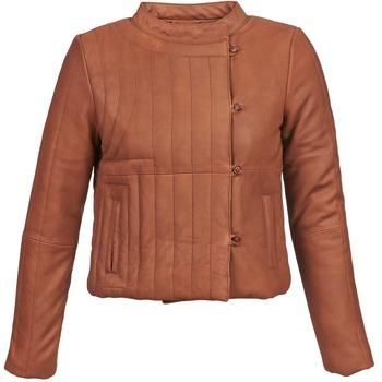 textil Dam Skinnjackor & Jackor i fuskläder Antik Batik YOANN Cognac