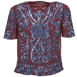 textil Dam Blusar Antik Batik NIAOULI Bordeaux