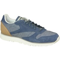 Skor Herr Sneakers Reebok Sport CL Leather Fleck Gråa,Blå
