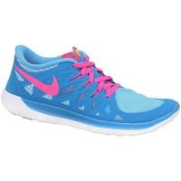 Skor Pojkar Sneakers Nike Free 50 GS Blå, Rosa