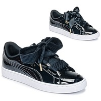 Skor Dam Sneakers Puma BASKET HEART PATENT WN'S Svart