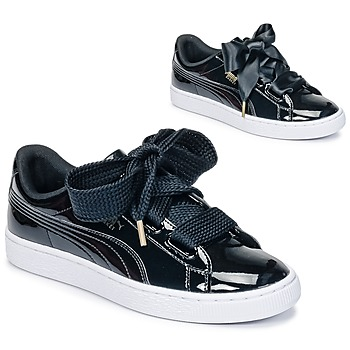 Skor Dam Sneakers Puma BASKET HEART PATENT WN'S Svart / Grön