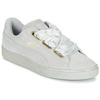 Skor Dam Sneakers Puma BASKET HEART SATIN WN'S Grå