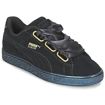 Skor Dam Sneakers Puma BASKET HEART SATIN WN'S Svart