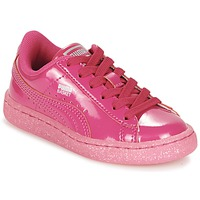 Skor Flick Sneakers Puma BASKET PATENT ICED GLITTER PS Rosa