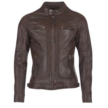 textil Herr Skinnjackor & Jackor i fuskläder Oakwood 60901 Brun
