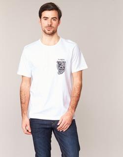 textil Herr T-shirts Element ATTACK SS Vit