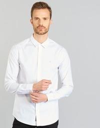 textil Herr Långärmade skjortor Calvin Klein Jeans WILBERT Vit