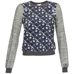 textil Dam Sweatshirts Manoush MOSAIQUE Grå / Svart / Blå