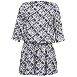 textil Dam Korta klänningar Manoush MOSAIQUE Grå / Svart / Lila
