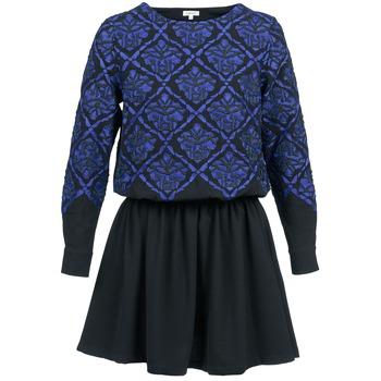 textil Dam Korta klänningar Manoush GIRANDOLINE Svart / Blå