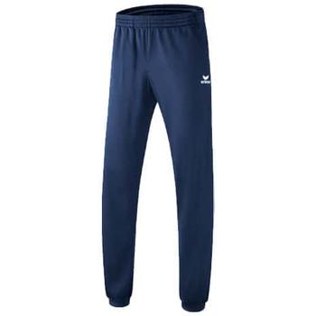 textil Herr Joggingbyxor Erima Pantalon d'entraînement avec bas-côté  Classic Team bleu marine