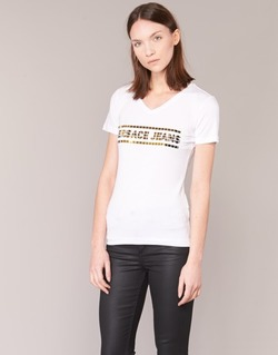textil Dam T-shirts Versace Jeans B2HPA7GC Vit