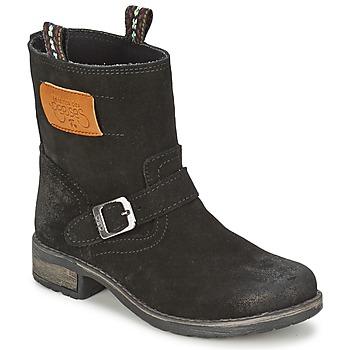 Skor Flickor Boots Le Temps des Cerises JUNIOR ALOE Svart