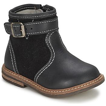 Skor Pojk Boots Citrouille et Compagnie LOOPI Svart
