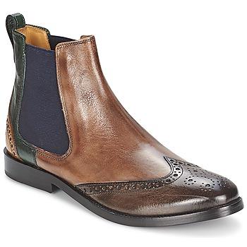 Skor Dam Boots Melvin & Hamilton AMÉLIE 5 Brun / Grön / Gul