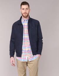 textil Herr Skinnjackor & Jackor i fuskläder Serge Blanco FIDENZA Marin