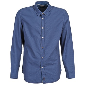 textil Herr Långärmade skjortor Marc O'Polo CELSUS Blå / Marin / Röd