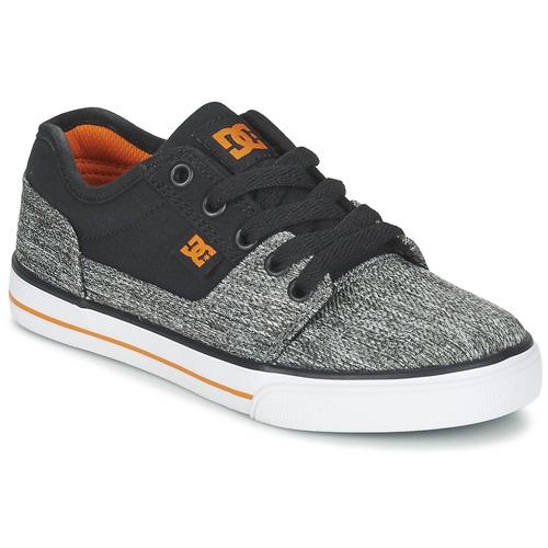 Skor Pojk Sneakers DC Shoes TONIK TX SE B SHOE BGY Svart / Grå / Orange