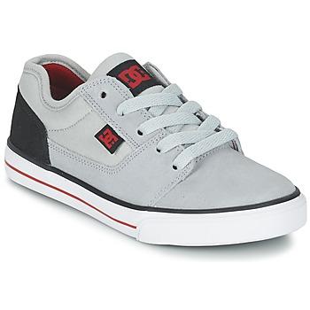 Skor Pojk Sneakers DC Shoes TONIK B SHOE XSKR Grå / Svart / Röd