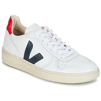 Skor Sneakers Veja V-10 Vit / Blå / Röd