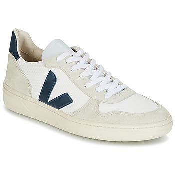 Skor Sneakers Veja V-10 Vit / Blå