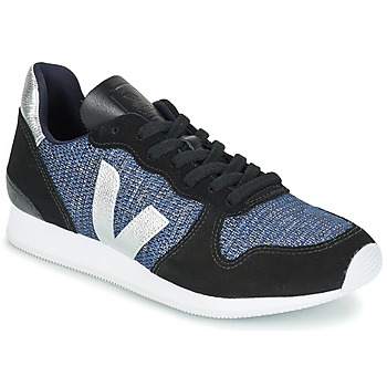 Skor Dam Sneakers Veja HOLIDAY LOW TOP Svart / Blå / Silver