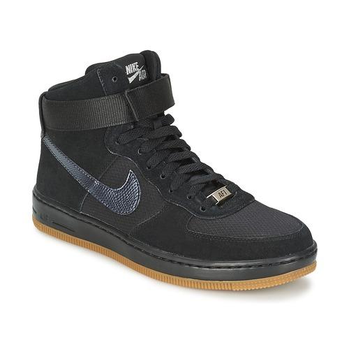 Skor Dam Höga sneakers Nike W AF1 ULTRA FORCE MID Svart / Silverfärgad