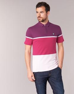 textil Herr Kortärmade pikétröjor Armani jeans MARAFOTA Violett / Röd / Vit