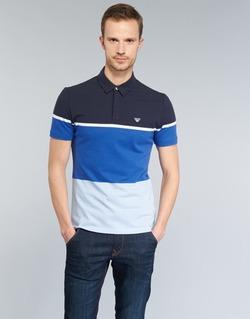 textil Herr Kortärmade pikétröjor Armani jeans MARAFOTA Blå