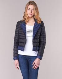 textil Dam Täckjackor Armani jeans BEAUJADO Svart / Blå