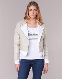 textil Dam Täckjackor Armani jeans BEAUJADO Beige / Vit
