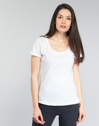 textil Dam T-shirts Armani jeans LASSERO Vit