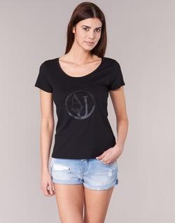 textil Dam T-shirts Armani jeans LASSERO Svart