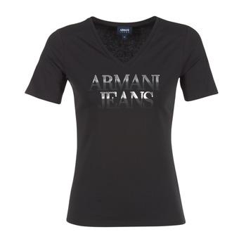 textil Dam T-shirts Armani jeans JAGONA Svart