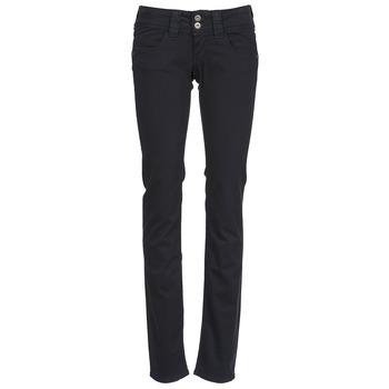 textil Dam 5-ficksbyxor Pepe jeans VENUS Svart / 999