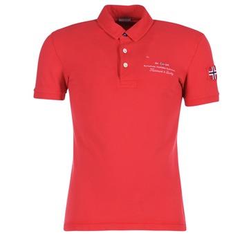 textil Herr Kortärmade pikétröjor Napapijri ELBAS Röd