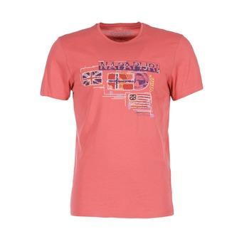 textil Herr T-shirts Napapijri VINTAGE Korall