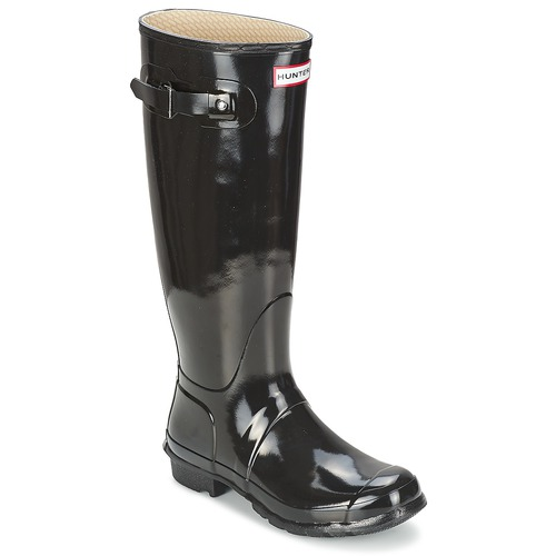 Skor Dam Gummistövlar Hunter WOMEN'S ORIGINAL TALL GLOSS Svart