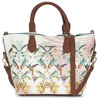 Väskor Dam Handväskor med kort rem Desigual FLORIDA TROPICALICIOUS Benvit / Kamel / Flerfärgad