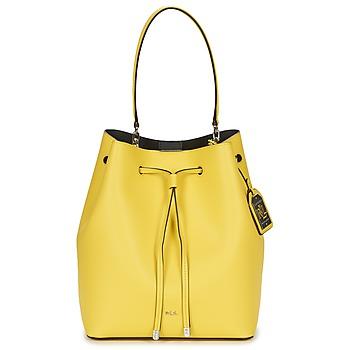 Väskor Dam Handväskor med kort rem Ralph Lauren DRYDEN DEBBY DRAWSTRING Gul