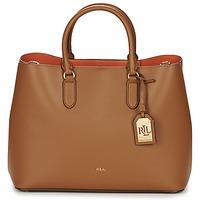 Väskor Dam Shoppingväskor Ralph Lauren DRYDEN MARCY TOTE Brun / Orange