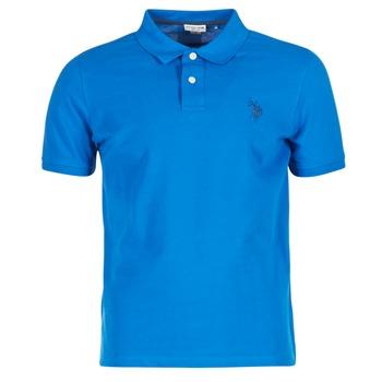textil Herr Kortärmade pikétröjor U.S Polo Assn. INSTITUTIONAL Blå