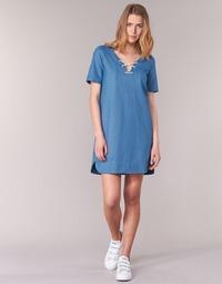 textil Dam Korta klänningar Loreak Mendian TXANGAI Blå