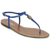 Skor Dam Flip-flops Ralph Lauren AIMON SANDALS CASUAL Blå